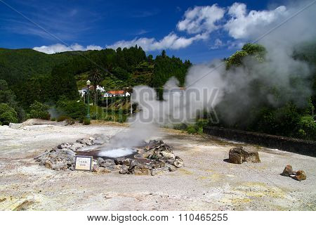 Hot spring in Furnas Sao Miguel island