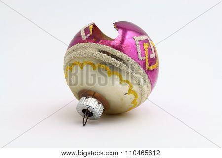 Antique broken Christmas ornament