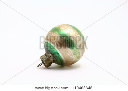 Antique Christmas ornament green striped
