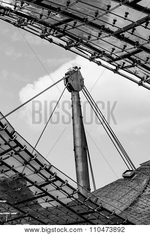 Olympic Stadion Roof, Munich, Bavaria, Germany