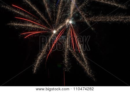 Red Fireworks