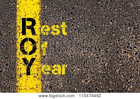 Accounting Business Acronym Roy Rest Of Year