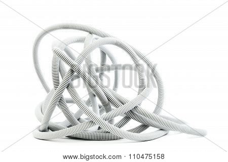 Corrugated pipe isolated on white