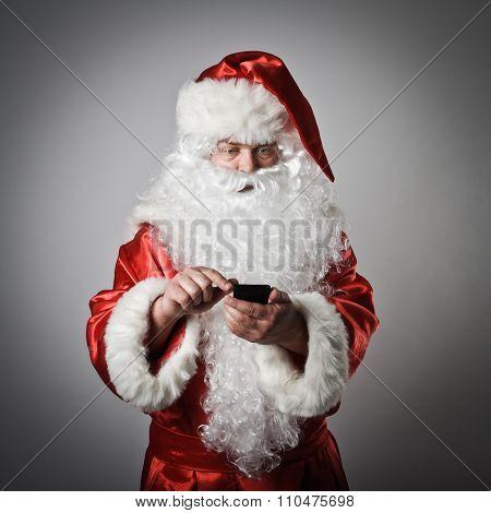 Santa Claus And Smart Phone