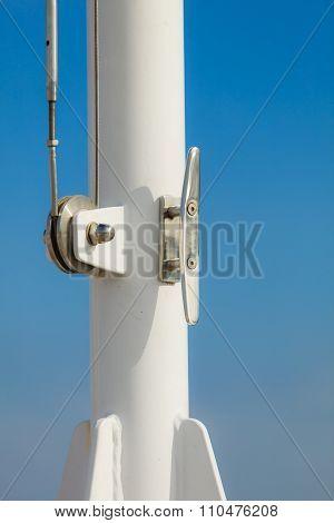 Closeup Of Flagpole.