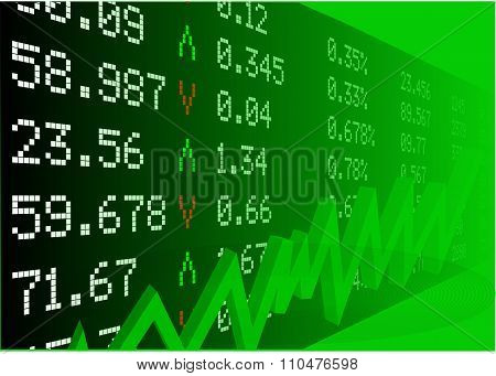 Stock Market With Numbers