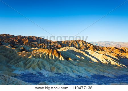 Morning view of the Death Valley mountains