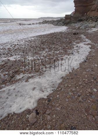 Foam Upon Beach Seascape