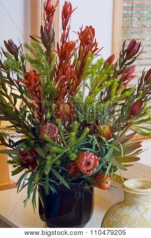 Australian Native Flowers In A Vase