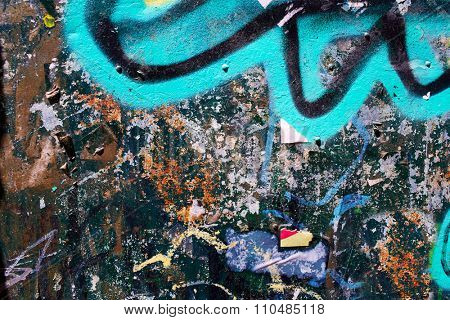 urban graffiti textures with old paper and mixed colors