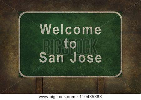 Welcome To San Jose, Roadside Sign Illustration