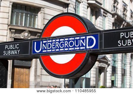 Underground sign, London