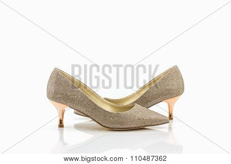 High Heel Of Golden Shoes.