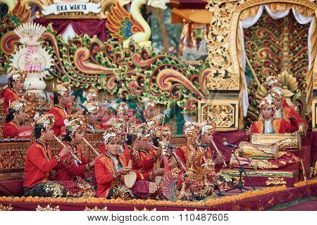 Traditional Balinese Orchestra Gamelan