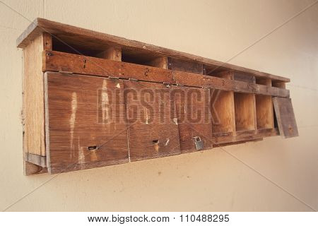 Old Wooden Letterboxes