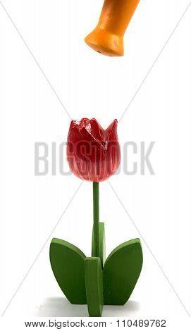 Decoration Wood Flower
