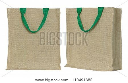 Eco Fabric Bag Isolated On White