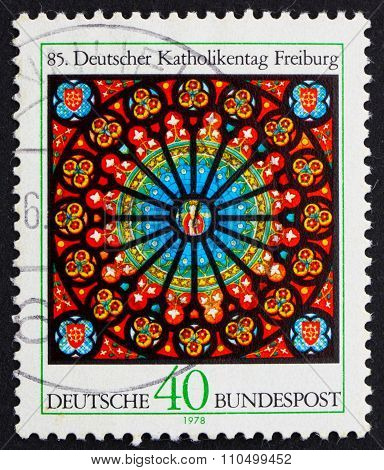 Postage Stamp Germany 1978 Rose Window, Freiburg Cathedral