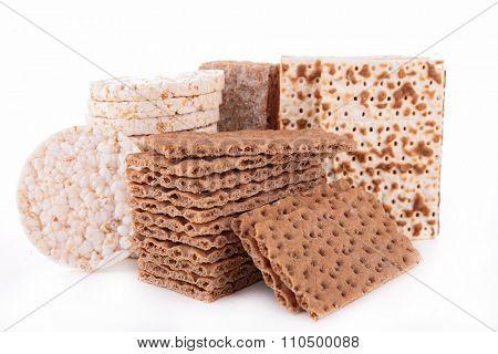 assorted of crispbread