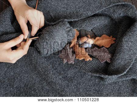 Knitted, Scarf, Winter, Handmade, Wintertime