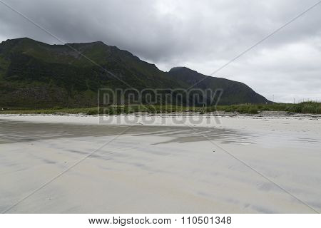 Sand, water and mountains