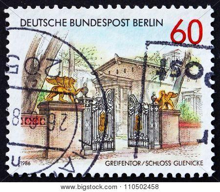 Postage Stamp Germany 1986 Gryphon Gate, Glienicke Castle, Berli