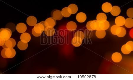 Gold Colored Blurry Lights Background