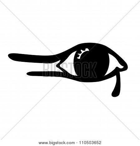 Illustration Of The Egyptian Eye On White Background
