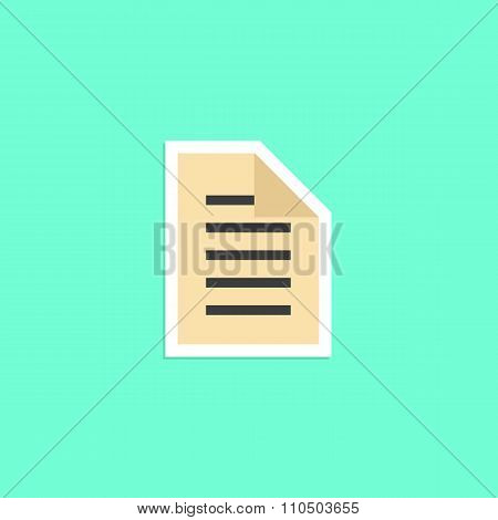 check list sticker isolated on green background