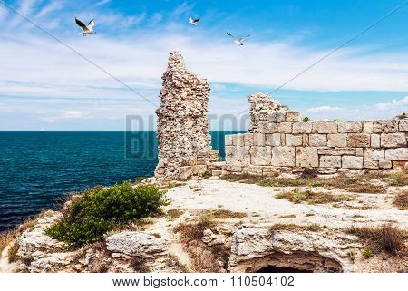 Ruins Of Ancient Greek City Of Chersonesos In Sevastopol