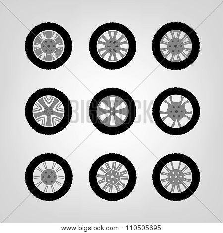 Car Wheel icons
