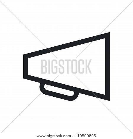 Megaphone outline icon, modern minimal flat design style, loudspeaker vector symbol