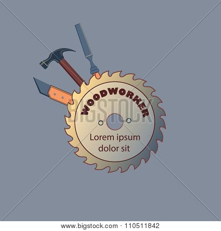Carpentry tool,labels and design elements