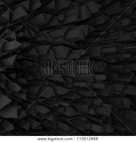 Black triangles backdrop
