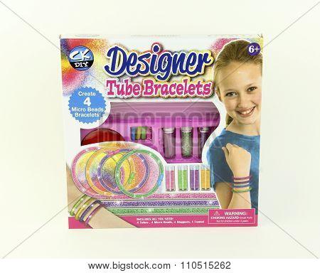 Creative Kids Designer Tube Bracelets Kit