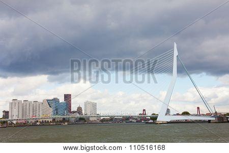 Erasma Bridge To Rotterdam.