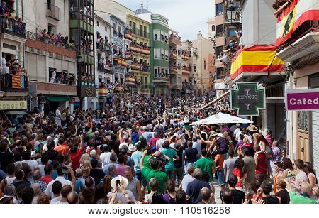 Festival Of Bulls And Horses In Segorbe, Spain