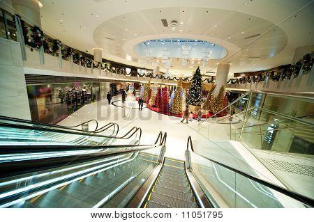 Weihnachtsdekoration in Einkaufszentrum