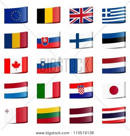 Collection Flags National Countries