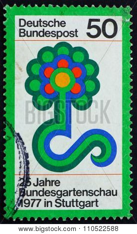 Postage Stamp Germany 1977 Flower Show Emblem