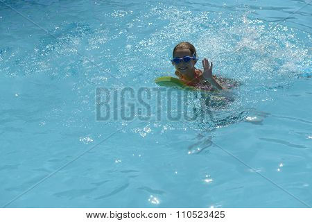 Swimming Girl Looking At Camera