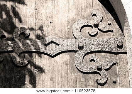 Old London Door In England And Wood Ancien Abstract Hinged