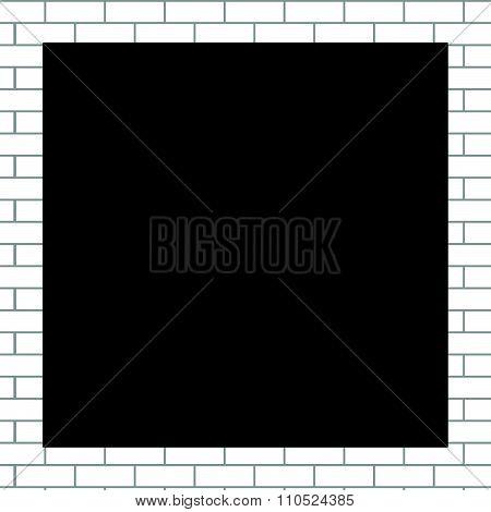 Frame white bricks
