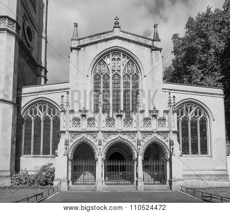 Black And White St Margaret Church In London