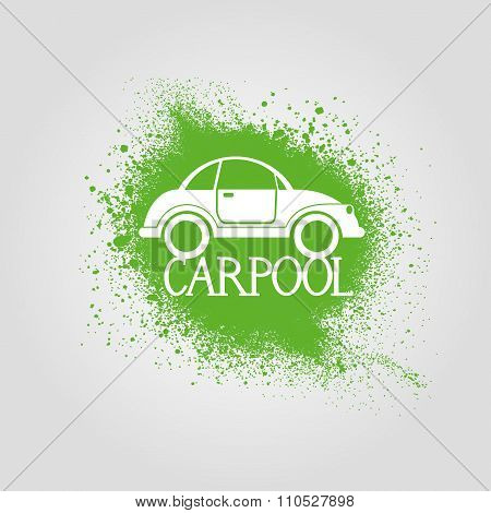 carpool grunge icon