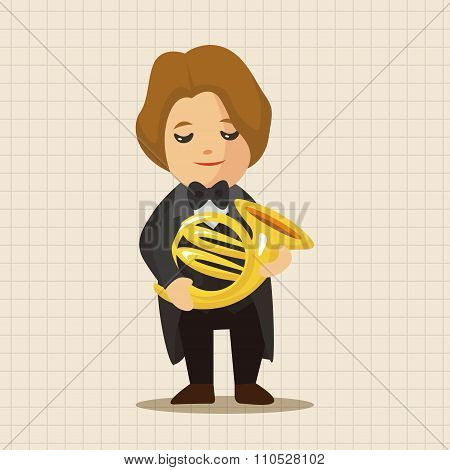 Character Musician French Trumpter Theme Elements