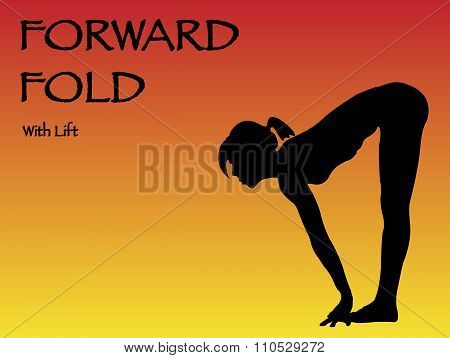 Yoga Woman Forward Fold With Lift Pose