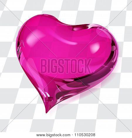 Transparent Pink Heart