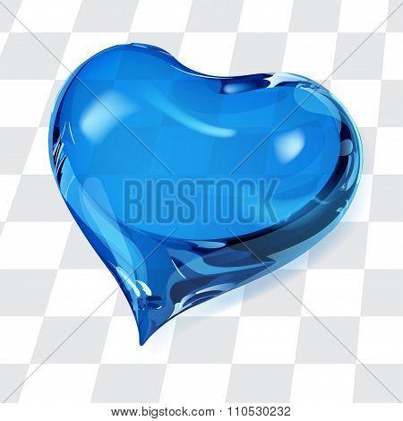 Transparent Blue Heart