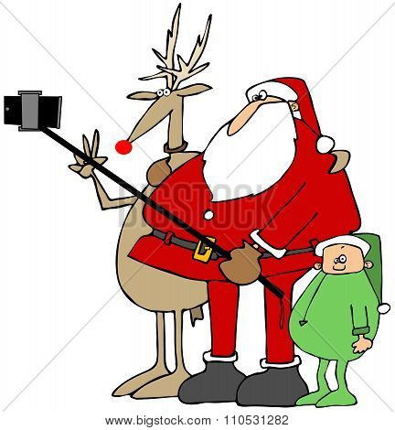 Santa's New Selfie Stick